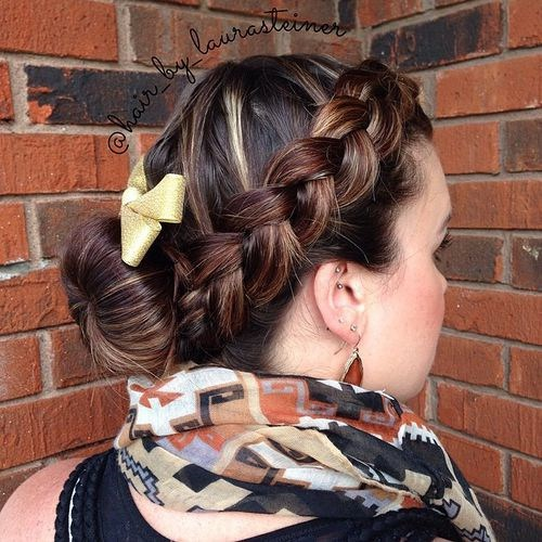 14-bun-and-braid-low-maintenance-updo