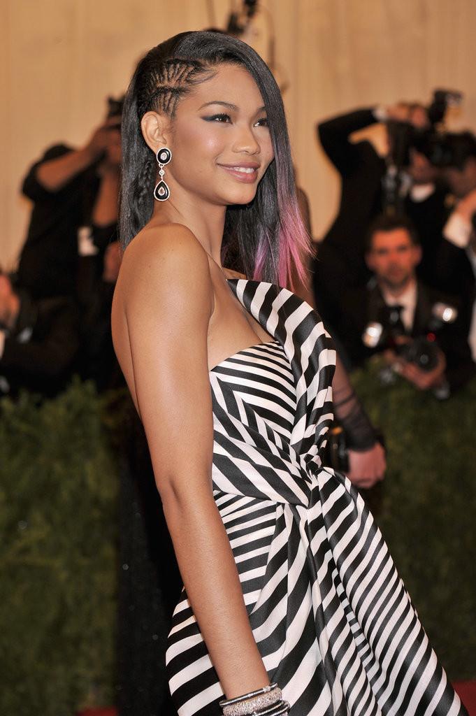 taglio rasato laterale Going-punk-faux-undercut-style-Chanel-Iman-braided-side-681x1024
