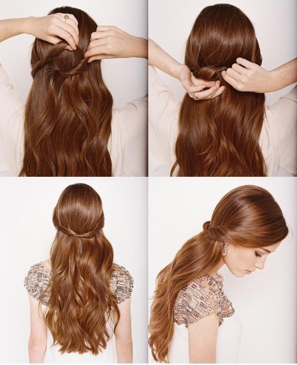 acconciatura ordinata carina veloce capelli-fissati-sul-retro