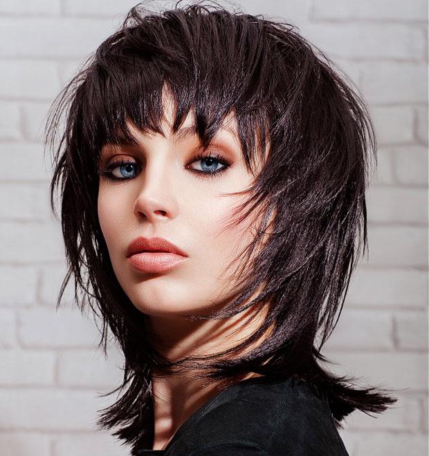 capelli medi con frangia