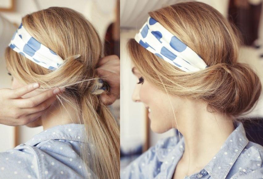 acconciatura ordinata carina veloce capelli-rivoltati-nella-fascia