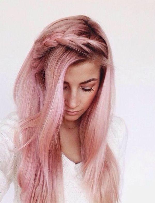 rose-gold-hair rose-gold-hair