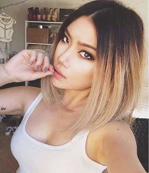 Trendy-Blonde-Ombre-Short-Hair Trendy-Blonde-Ombre-Short-Hair