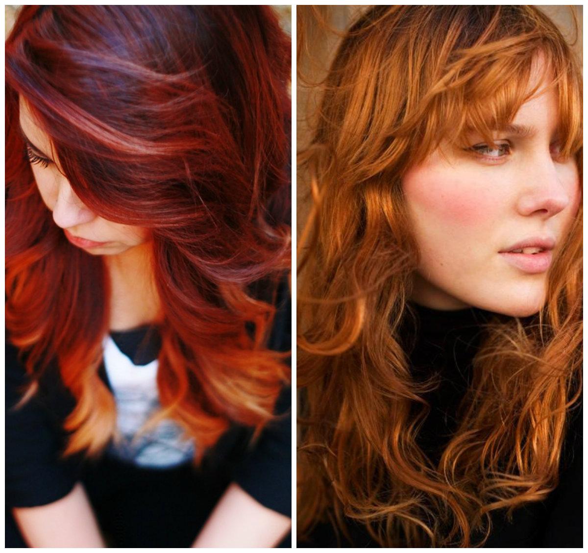 Molto Shatush rosso: sfumature e tonalità all'ultima moda! CC67