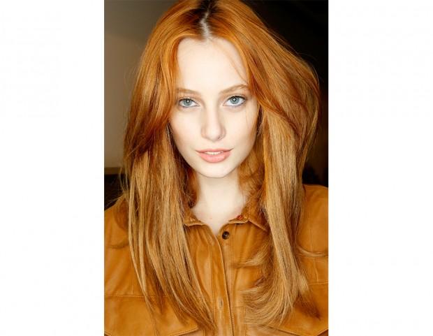 Colore arancione capelli