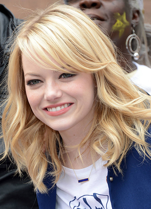 """<> the """"Be Amazing"""" Stand Up Volunteer Initiative at Madison Boys And Girls Club on June 26, 2012 in the Brooklyn borough of New York City. side-parted-bangs-for-round-face-2016-500x688"""