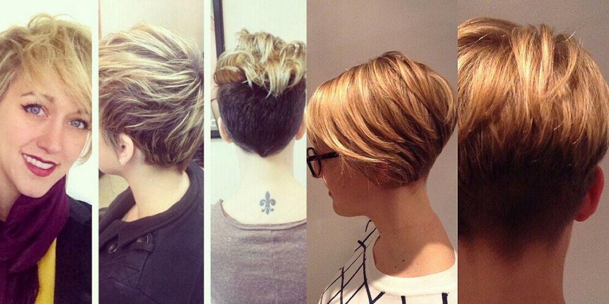 Tagli capelli corti 2014 visti da dietro