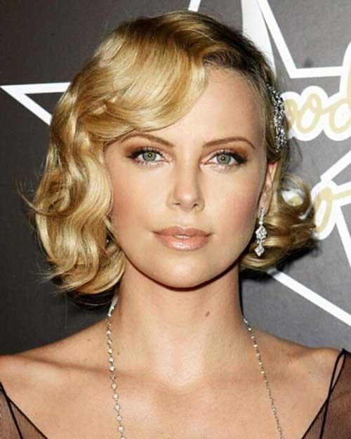 acconciature ondulate per capelli corti Blonde-Hair-Wavy-Curls-for-Short-Haircut
