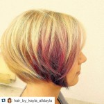 Chic-highlighted-round-bob-hairstyle-for-short-hair