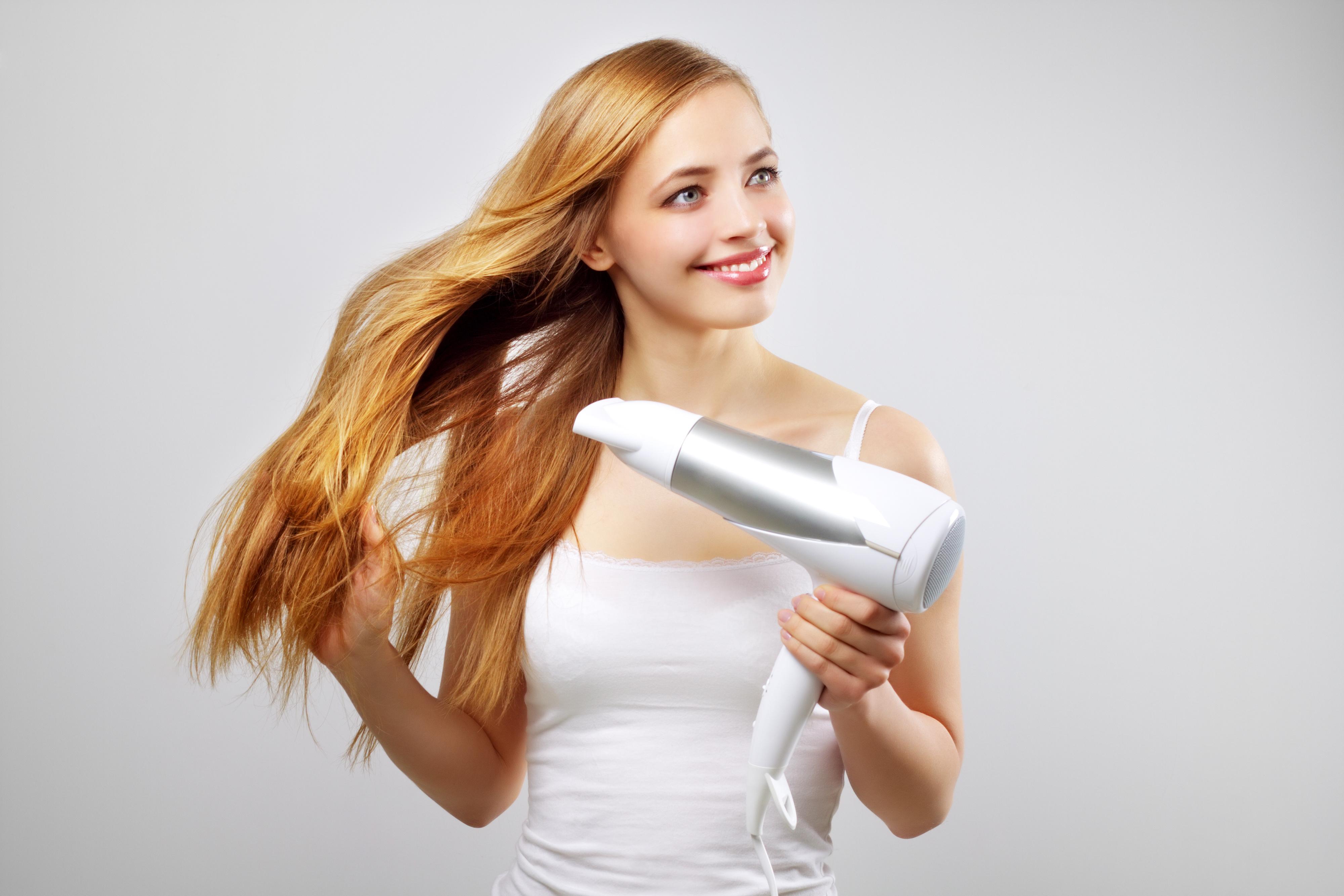 capelli asciugati bene