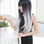 Full-Heat-Resistant-Synthetic-black-to-grey-Ombre-wig-long-natural-straight-girls-gray-hairstyles-hair