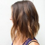 Medium-length-bob-hairstyle-with-caramel-balayage-highlights