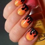 effetto fiamma sulle unghie