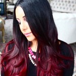 black-and-red-ombre-hair