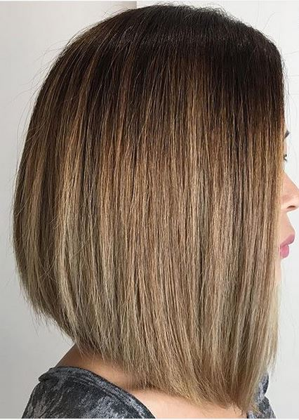 blunt-cut-asymmetrical-bob-on-bronde-hair-color