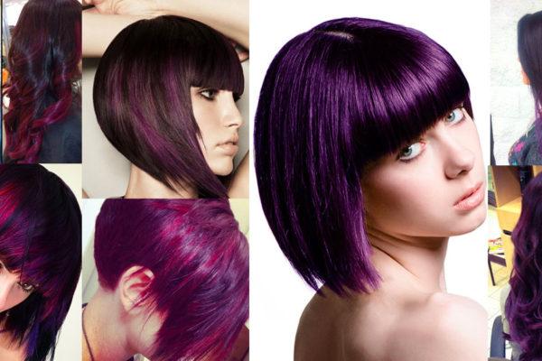 Bagno di colore capelli viola decora la tua vita - Bagno di colore su meches ...