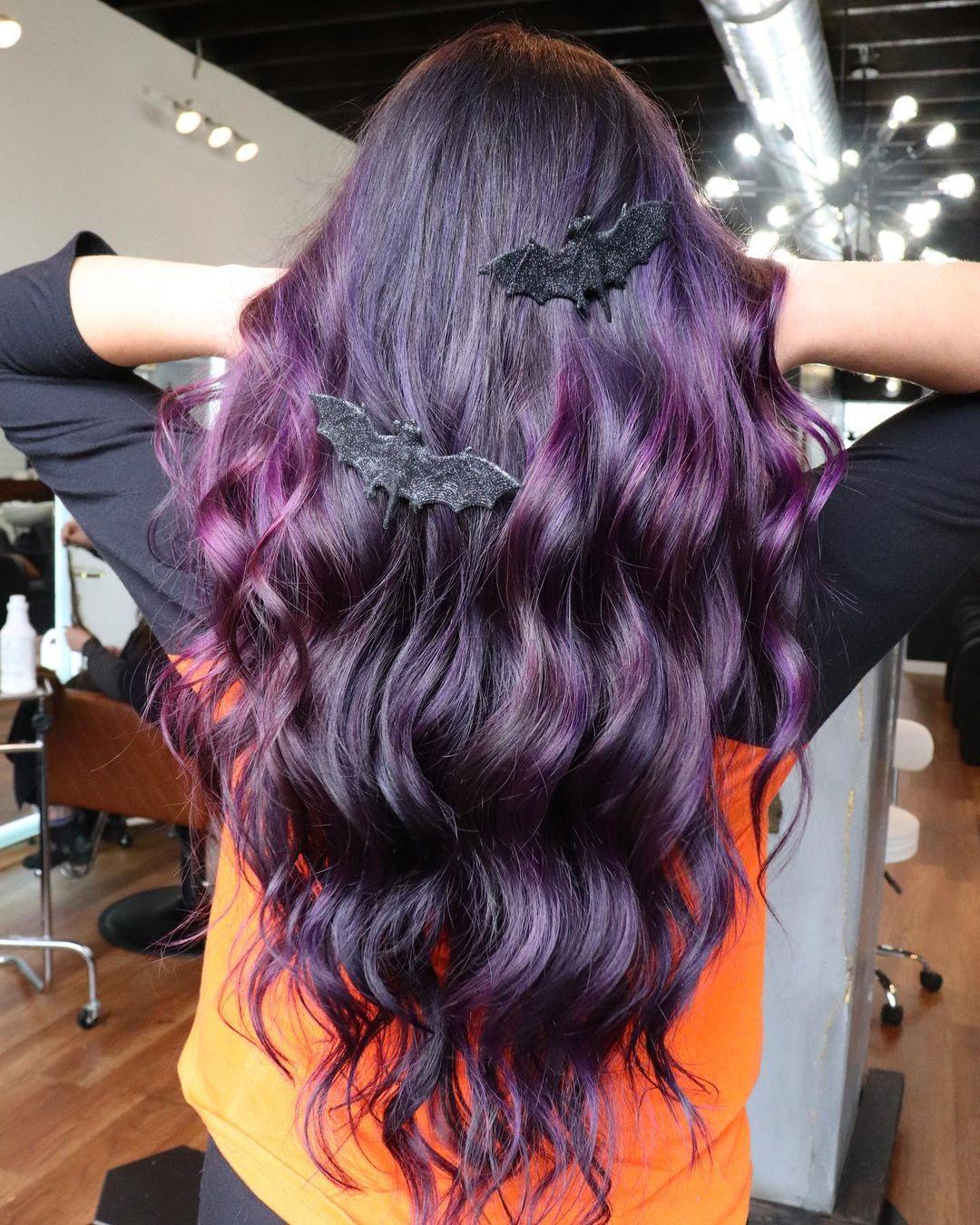 lunghi viola mossi