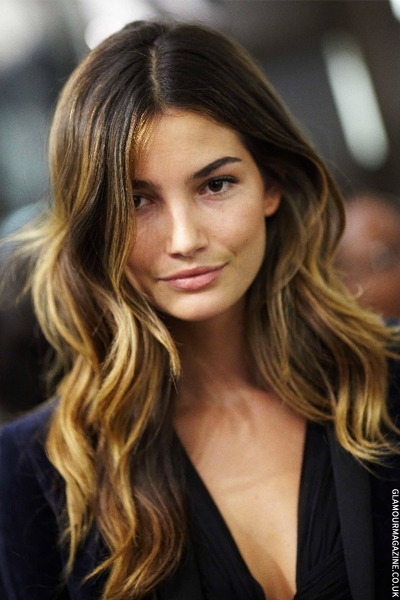 lily-aldridge-sexy-ombre-hair-2013