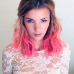 medium-brown-to-pink-ombre-hair