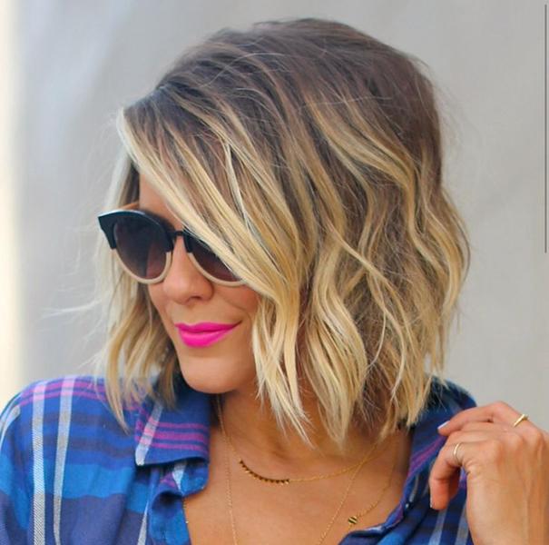 Fade Balayage blonde haircut for girl