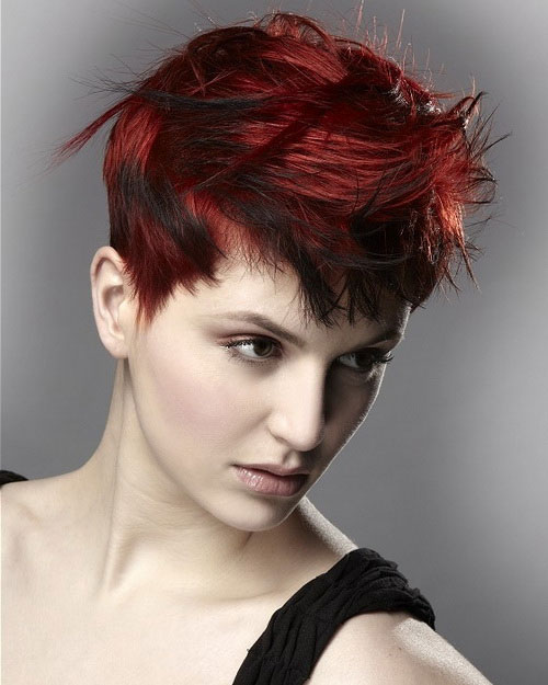 short-red-hairstyles-spiky