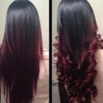 straight-and-curled-black-to-red-ombre-hair