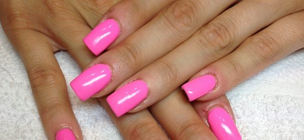 Gel unghie rosa fluo