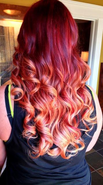ombre hair rosso bello vivace e sorprendente. Black Bedroom Furniture Sets. Home Design Ideas