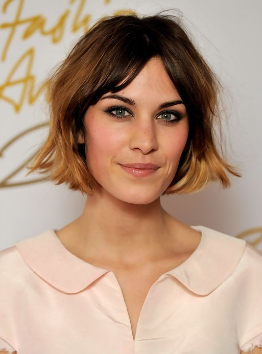 Alexa-Chung-Short-Bob-Haircut-for-Ombre-Hair