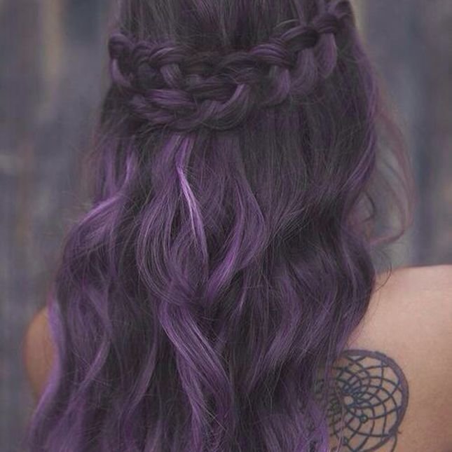 Braided-Purple-Hairstyle