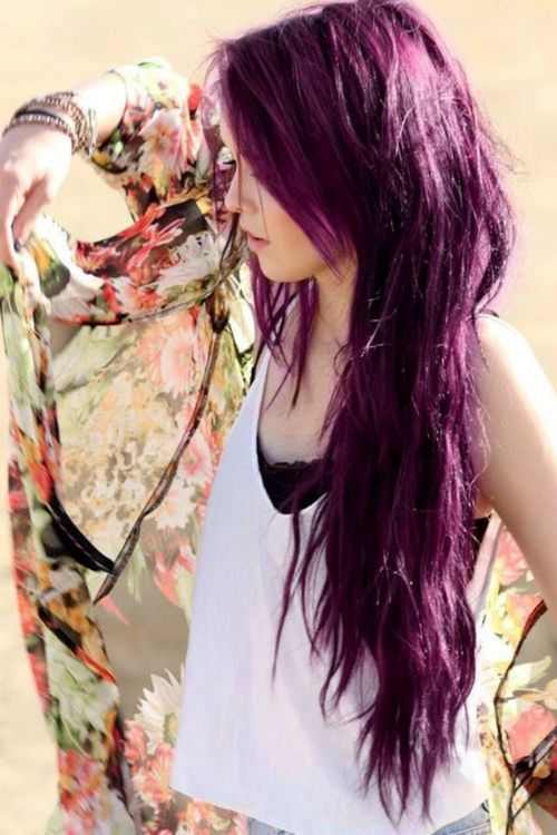 Long-Layered-Purple-Hairstyle