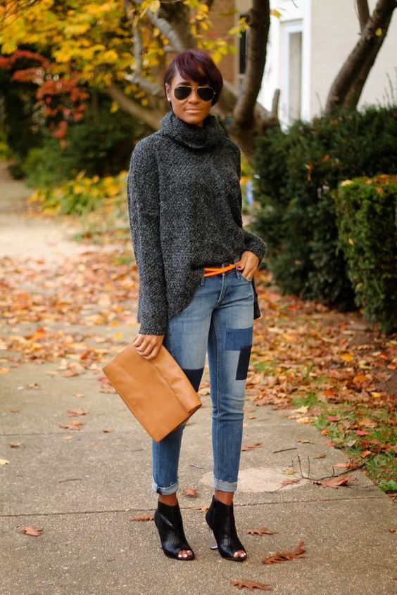 patchwork jeans trend Patchwork-Jeans-Outfit