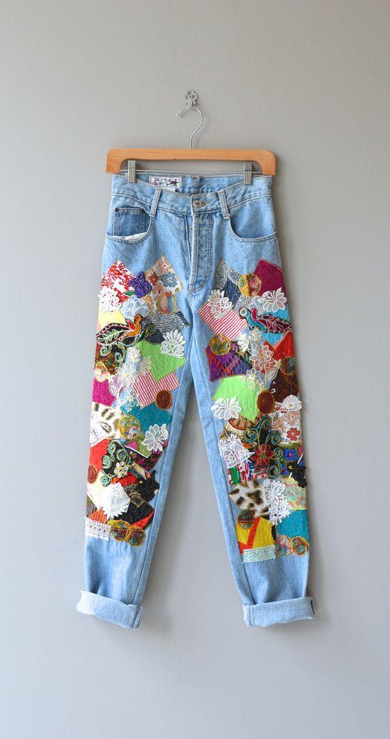 patchwork jeans trend Patchwork-Jeans