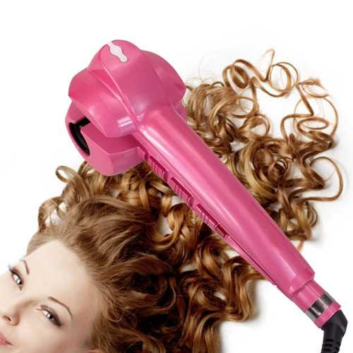 piastra a vapore Salon-Collection-Automatic-Steam-Curlers-Harmless-to-Hair-Ceramic-Electric-Hair-Curler-Machine-Rose-Red