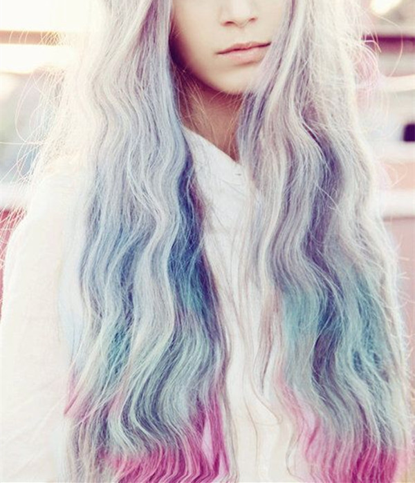 Silver-hair-with-pastel-rainbow-colors-the-amazing-effects-2015-summer