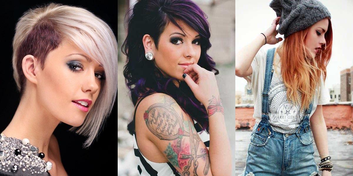 Taglio di capelli punk ragazza