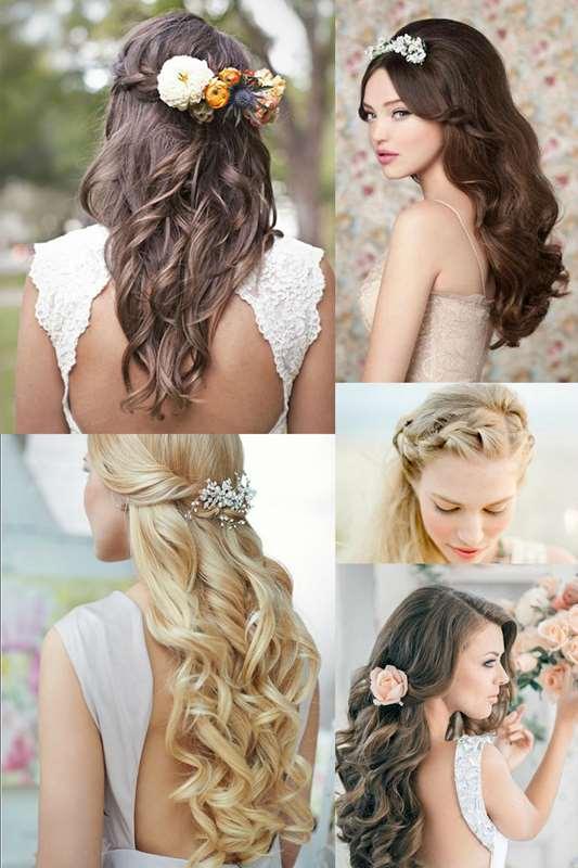 Acconciature semiraccolte la praticit dei capelli - Peinados de boda semirecogidos ...