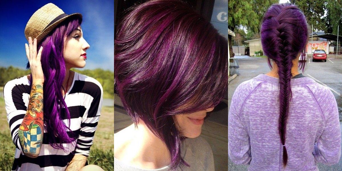 Preferenza Nuovi fantastici look con i capelli viola! GX14