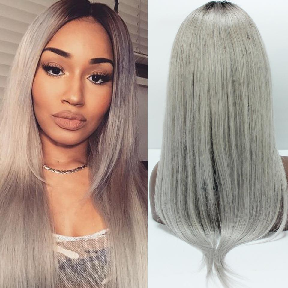 ombre-grey-human-hair-wigs-dark-roots-fashion