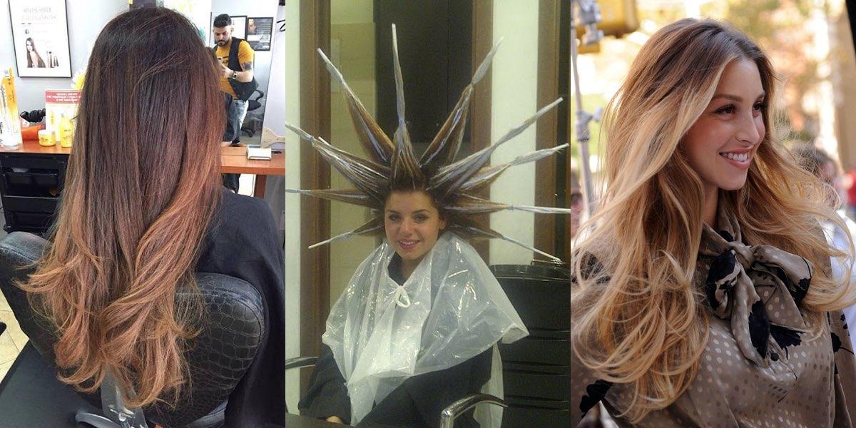 Taglio di capelli a stella