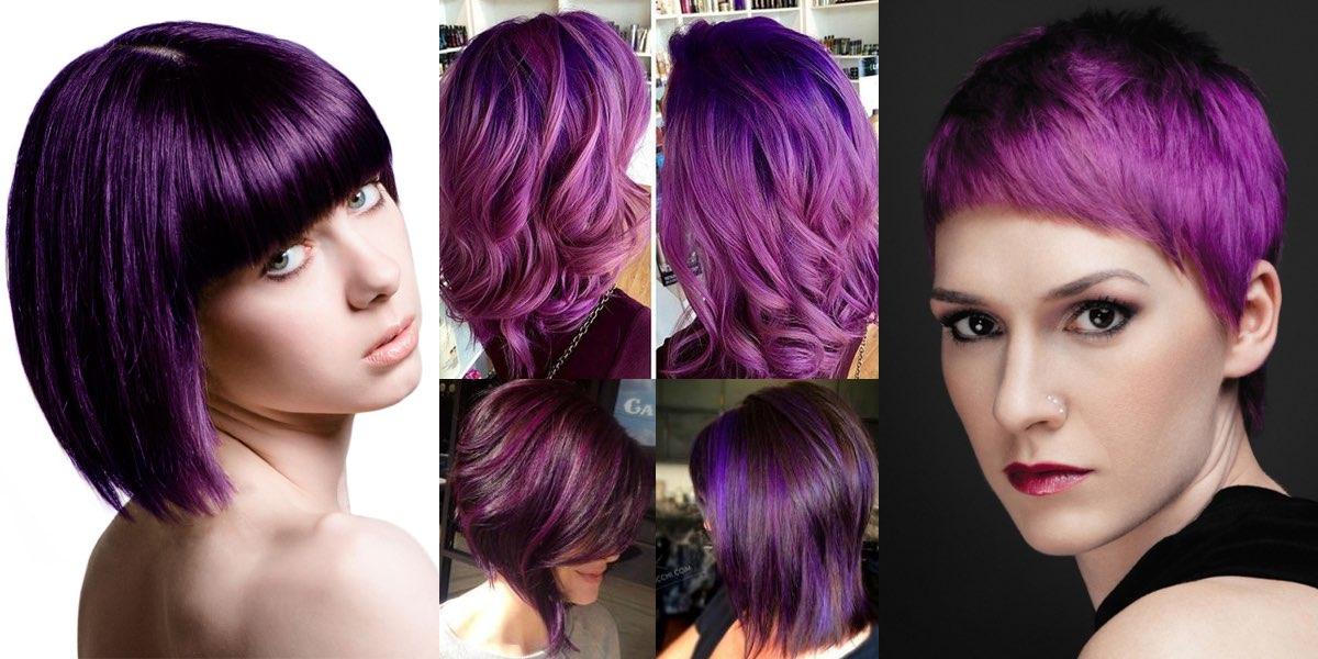 Bagno di colore capelli viola ~ Decora la tua vita