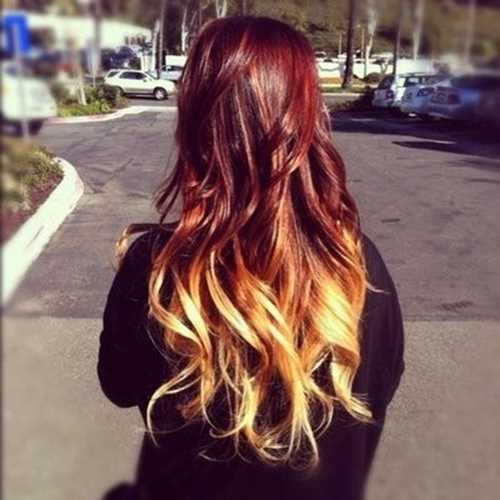 ombre hair rosso