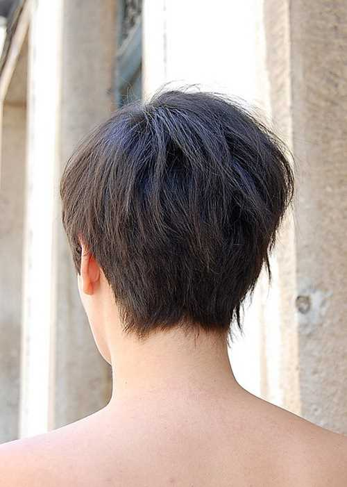 short hair styles back view tagli cortissimi visti da dietro il look a 360 gradi 9605 | Back View of Asymmetric Bob Haircut 2