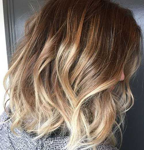 capelli medi ombre hair Beachy-Blonde-Highlights-on-Short-Hair