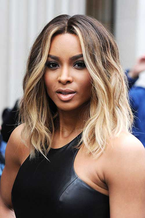 Blonde-Balyage-Ombre-Wavy-Short-Hair Blonde-Balyage-Ombre-Wavy-Short-Hair