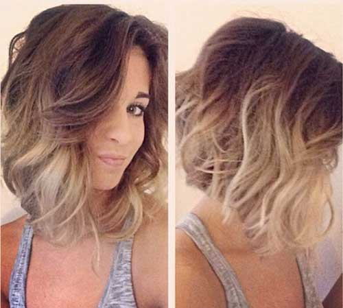 Blonde-Ombre-Short-Hair-Style