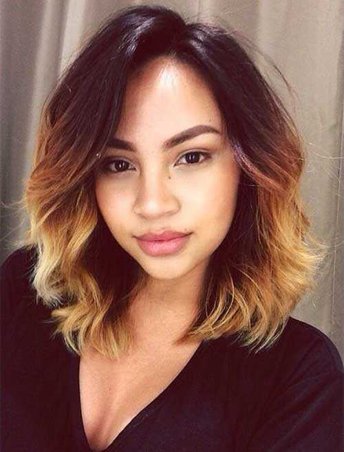 Blonde-Ombre-Short-Wavy-Hair
