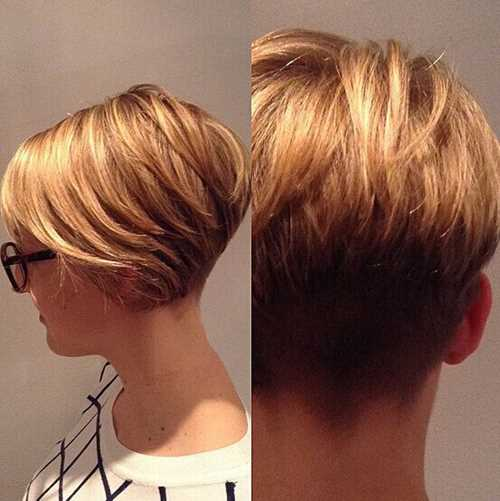 Blonde-Short-Hair-Style-Side-Back-View Blonde-Short-Hair-Style-Side-Back-View