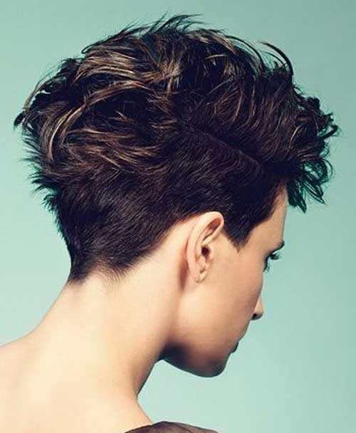 tagli cortissimi visti da dietro Brown-Short-Hair-Back-View-2