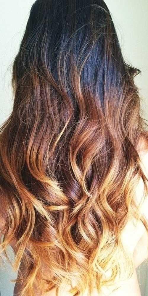 Dark-to-Brown-Blonde-Ombre-Hair Dark-to-Brown-Blonde-Ombre-Hair